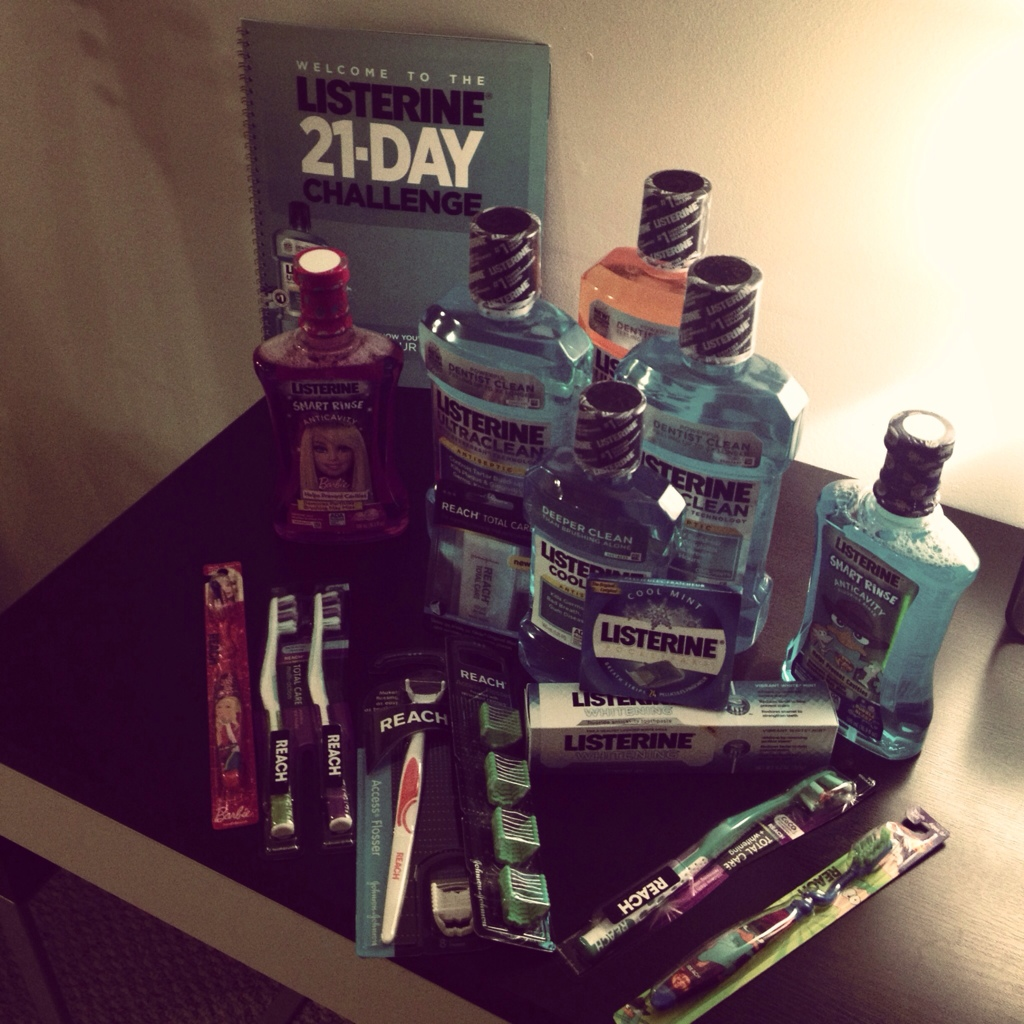 We are Taking the #Listerine 21 day Challenge!
