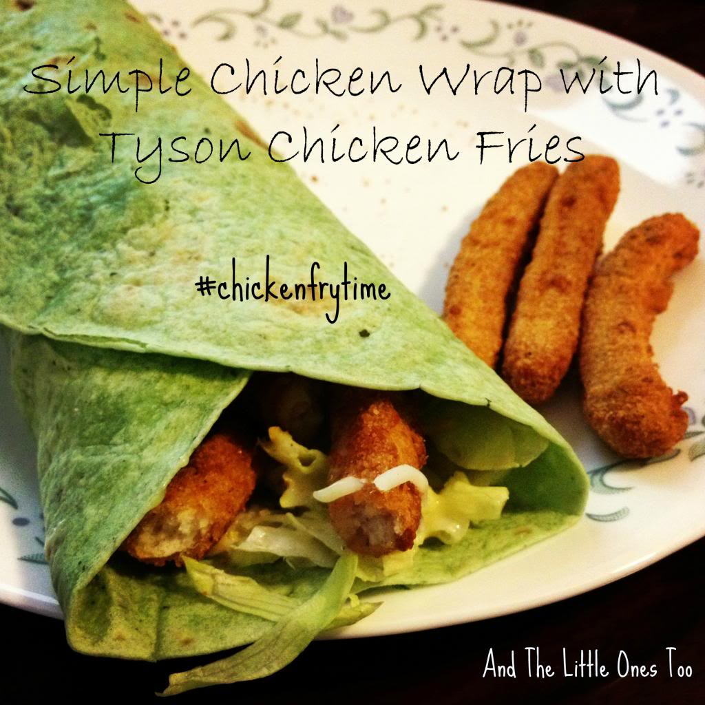 Simple Chicken Wrap made with Tyson chicken fries #chickenfrytime #cbias