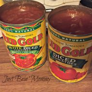 Warm up with Chili featuring Red Gold Tomatoes