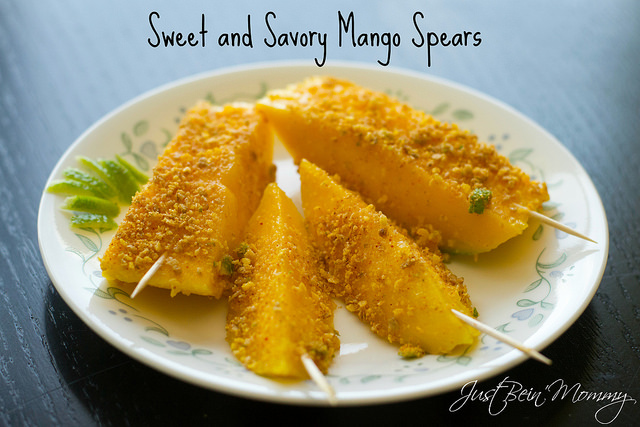 Mango Spears featuring Honey Bunches of Oats