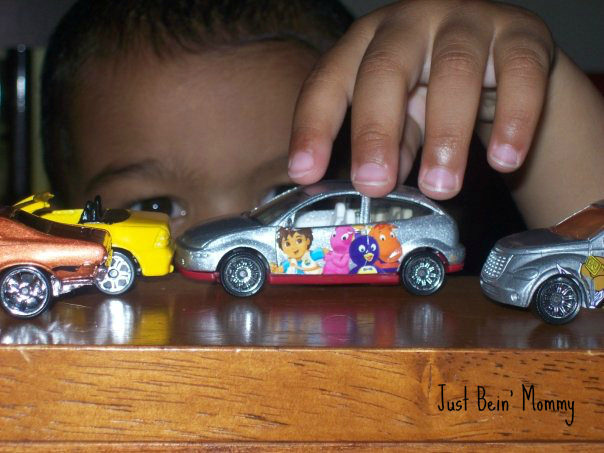 My boys play with cars