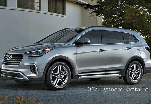 Quick overview of options on the Hyundai Santa Fe