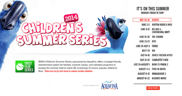 The Children's Summer Series at SMG starts June 2nd!