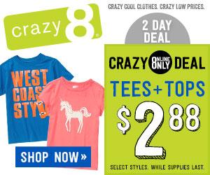 Crazy 8 Online only deal! (valid until Jan 13)