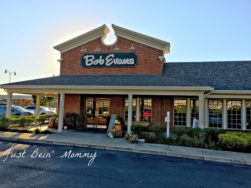 Enjoying Family dinner with Bob Evans