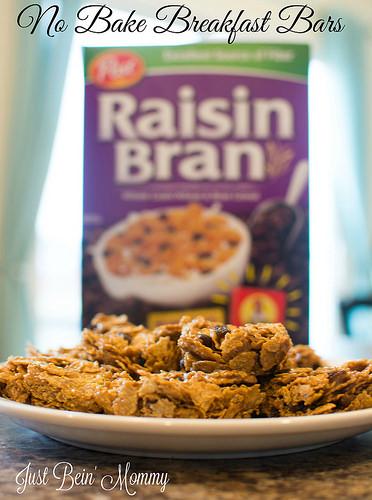 No Bake Breakfast Bars with Post Raisin Bran