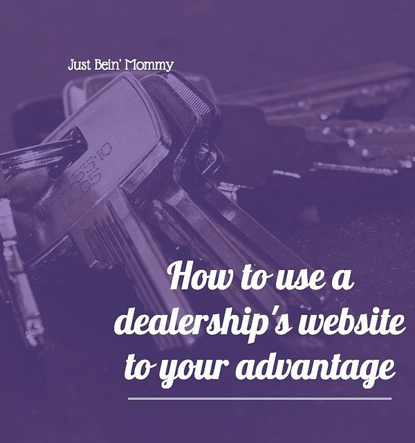How to use a dealership's website to your advantage