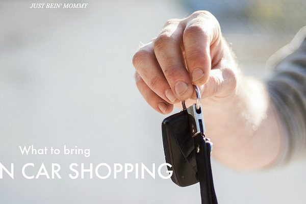 What to bring when car shopping