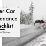 Winter Car Maintenance Checklist