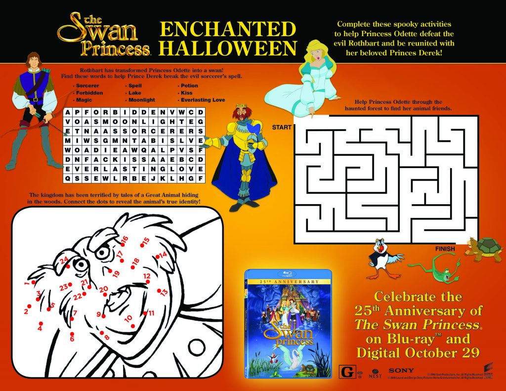 the swan princess activity sheet