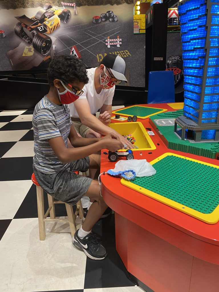 Building cars at Legoland Discovery Center