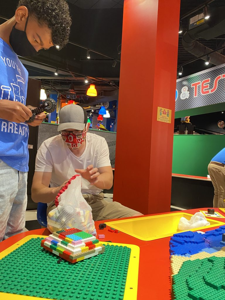 Building a motorcycle at Legoland Discovery Center