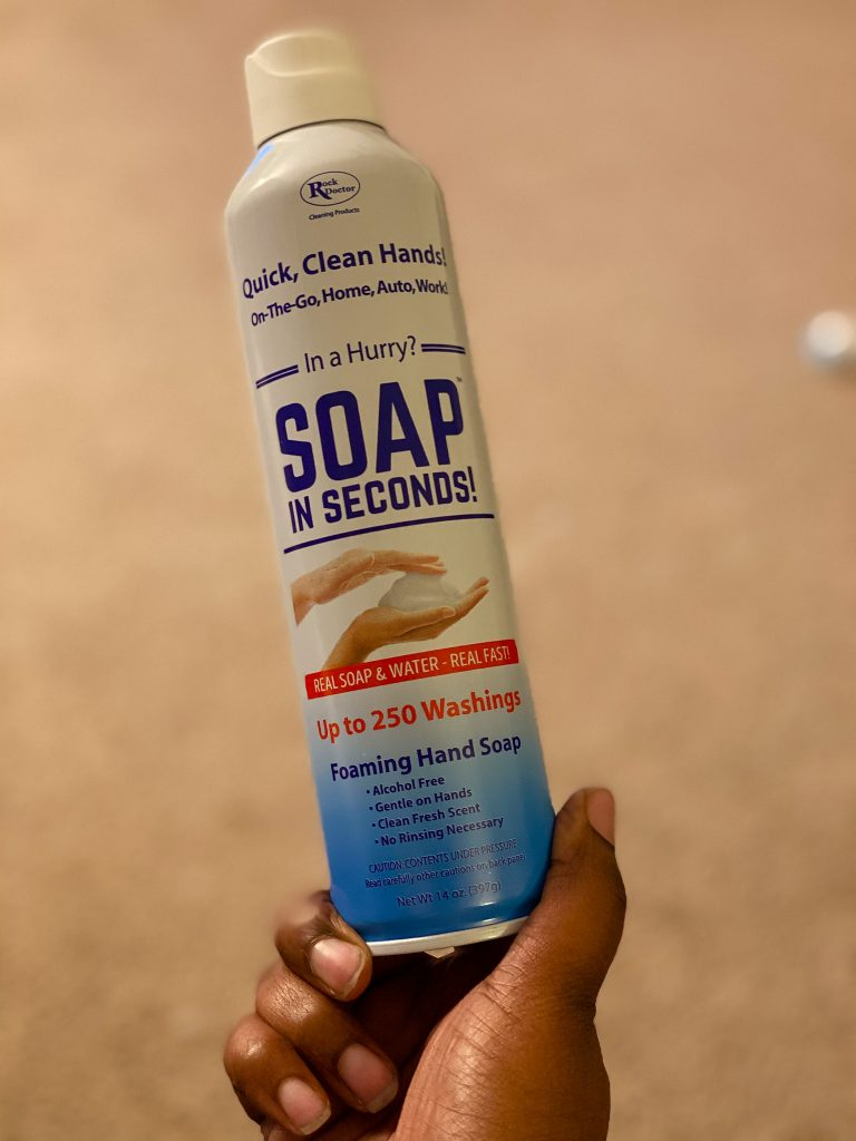 soap in seconds